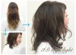 春hair!3Dカラー×ダークグレーアッシュで透明感のある暗髪に!!